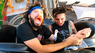 GETTING A TATTOO ON A ROLLER COASTER! (Yes, This Is Real)