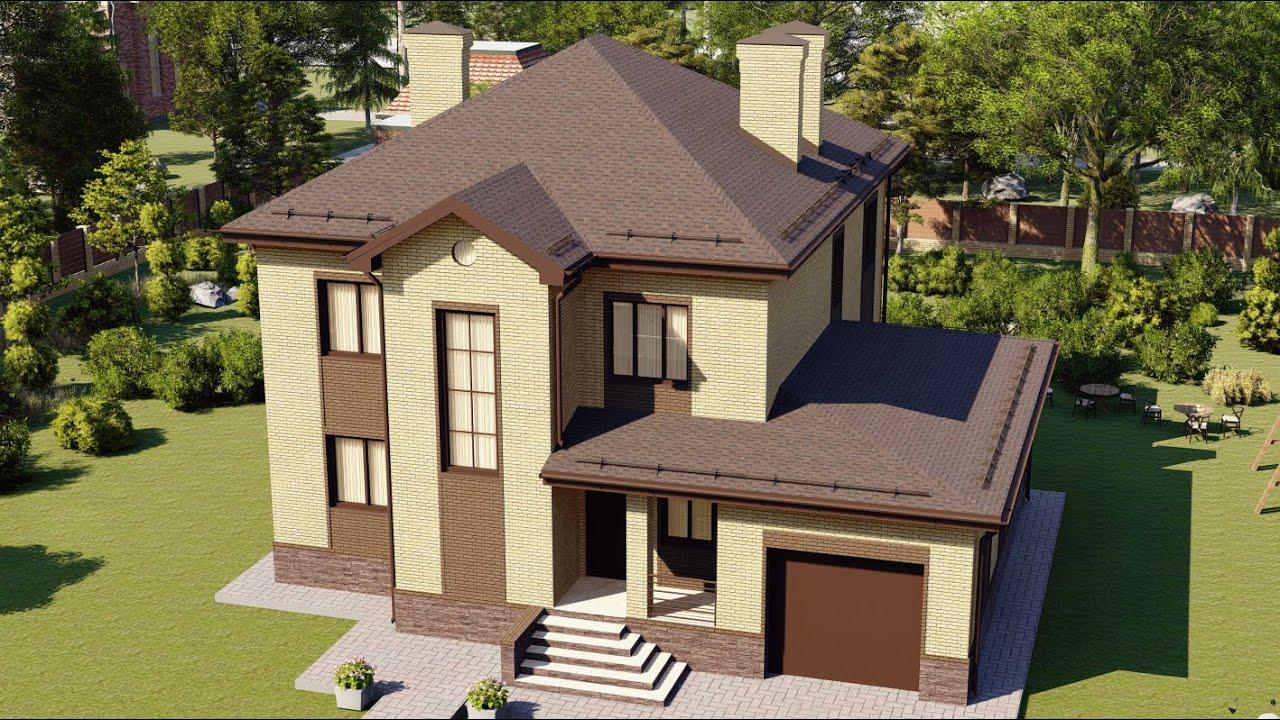 Проект дома с продуманной планировкой из газобетона 215 кв м