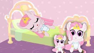 Рождение малышки СЕЛЕСТИИ.Розовая семья карманной пони.My little pony.