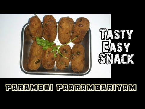 Evening snack Crunchy Potato Nuggets | Tamil easy cooking recipe | Parambai Paarambariyam