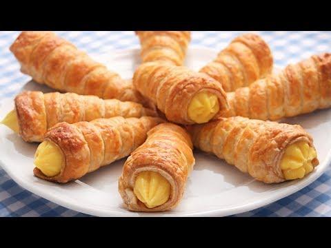 Canutillos o Conos de Hojaldre rellenos de Crema | Muy Crujientes y Deliciosos