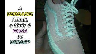 A VERDADE Sobre A Polêmica Da Foto Do Tênis Verde, Rosa Ou Cinza!