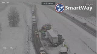 East Tennessee Snowfall Causes Crashes In Knoxville, Other Roadways