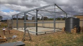 Timelapse shed construction