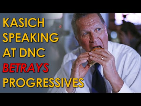 John Kasich speaking at Democratic National Convention is a BETRAYAL of Progressives
