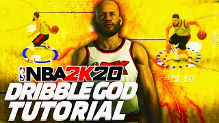 DRIBBLE GOD TUTORIAL W/ HANDCAM ON NBA 2K20 | EASIEST TUTORIAL TO BECOME A GOAT ON NBA 2K20