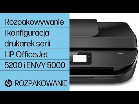 Rozpakowywanie i konfiguracja drukarek serii HP OfficeJet 5200 i ENVY 5000
