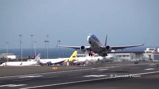 Busy Runway || Plane Spotting || A310 A321 B717 || Madeira