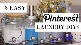 3 EASY LAUNDRY DIYS YOU NEED TO TRY!