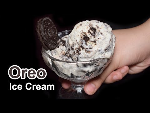 Video Oreo Ice Cream Without Machine - Oreo Ice Cream with 3 Ingredients - Ice Cream Recipe