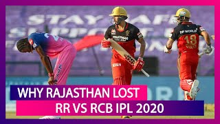 Bangalore vs Rajasthan IPL 2020: 3 Reasons Why Rajasthan Lost to Bangalore - Download this Video in MP3, M4A, WEBM, MP4, 3GP