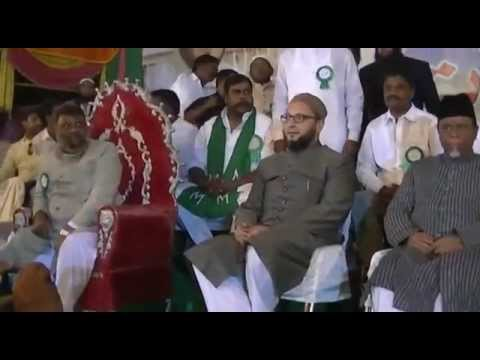 Welcoming Asaduddin Owaisi Sahab At Bodhan Jalsa In Nizamabad