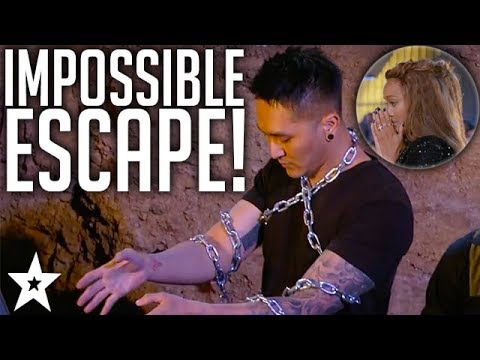 BURIED ALIVE!! Most Dangerous Audition On America's Got Talent 2017 (видео)