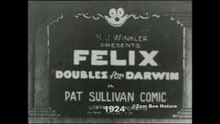 Felix The Cat Doubles For Darwin - 1924 - (Altered a bit) - Video Youtube