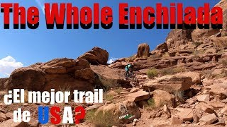 Two Spaniards eating the Whole Enchilada. Amazing. One of the best trails we've ever done!
