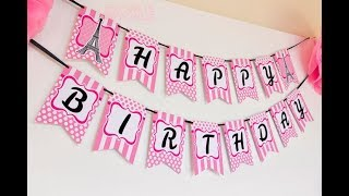 How To Make Special Birthday Banner Using Microsoft Publisher 2016