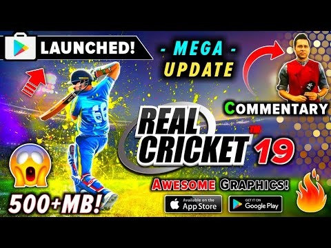 Real Cricket 19 MEGA Update 500MB Akash Chopra Commentary, New IPL