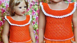 Летняя майка топ крючком на любой возраст. Tank Top Crochet