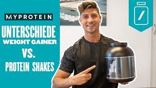 Weight Gainer vs. Protein Shakes - Wo liegen die Unterschiede?