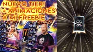 WWE SUPERCARD | YA ESTÁ AQUÍ EL NUEVO TIER! SUMMERSLAM 18! + Nueva animación de Reset y mi Freebie