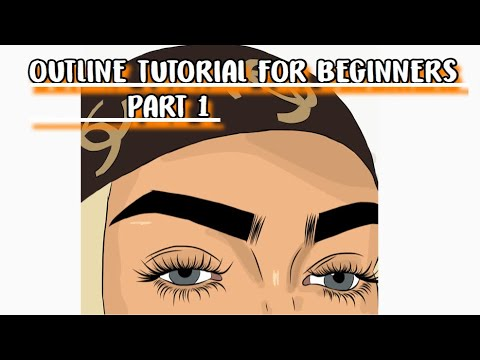 HOW TO OUTLINE FOR BEGINNERS +EYELASHES +COLOR PART 1 TUTORIAL ( MUST WATCH ) on adobe draw