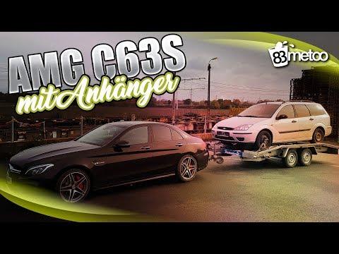 C63S AMG mit Autoanhänger? How To Fahren mit Anhänger?! Anhänger an- abkuppeln und rückwärts fahren