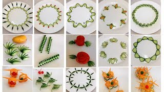 20 Fruit Plate Decoration - Fruit Vegetable Carving Garnish & Cutting Tricks