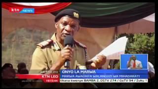 KTN leo: Nelson Marwa awaonya walanguzi wa mihadarati, 11/10/2016
