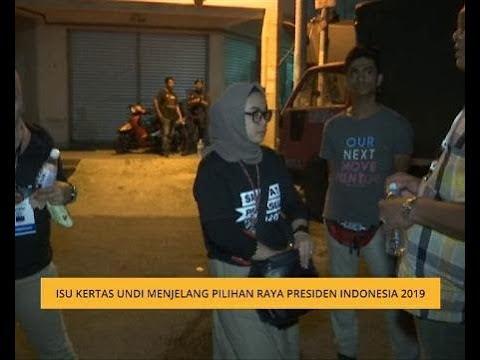 Isu kertas undi menjelang Pilihan Raya Indonesia 2019