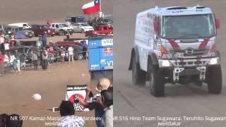 KAMAZ vs HINO / Mardeev vs Sugawara DAKAR 2015