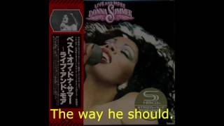 "Donna Summer - My Man Medley (Live) LYRICS - SHM ""Live and More"" 1978"