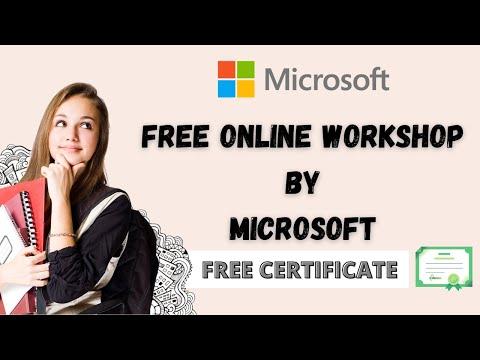Microsoft Free Workshop with Certificate   Microsoft Free AI Training ...
