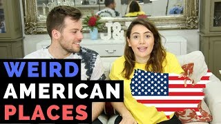 British People Try Pronouncing American Place Names! | American vs British
