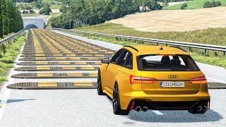 Cars vs 100 Speed Bumps #1 – BeamNG Drive   CrashBoomPunk