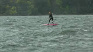 Foil VLOG: Downwind SUPfoil Session at the Hatchery, Columbia River Gorge