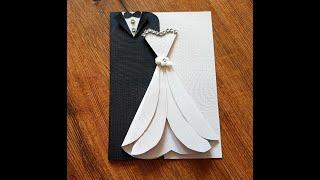 DIY- 2 cute and easy wedding cards| Handmade wedding cards ideas| Easy craft ideas| کارت عروسی زیبا