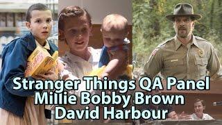 David SPOILS Stranger Things Millie Bobby Brown & David Harbour Panel Phoenix Comicon