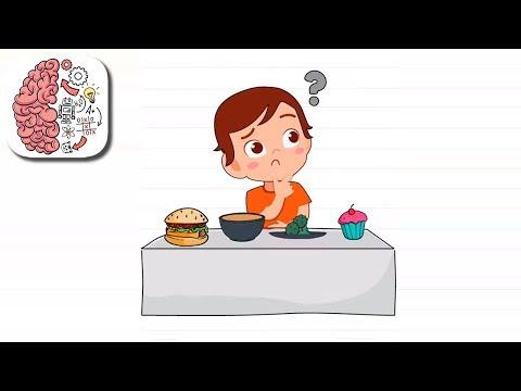 Как пройти Brain Test 140 уровень Саше нужно правильно питаться.