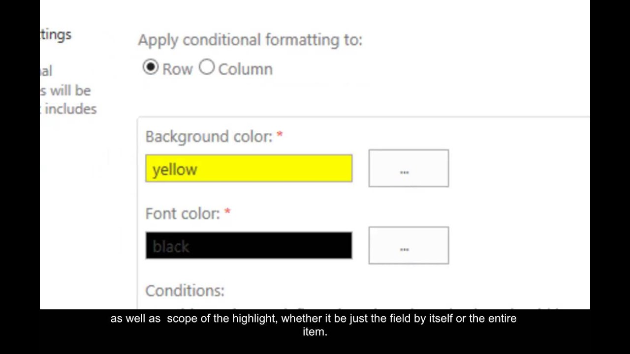 KWizCom Conditional Formatting Field Type
