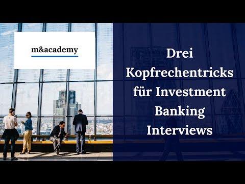 3 Kopfrechentricks für Investment Banking Interviews