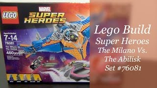 Let's Build - LEGO Guardians Of The Galaxy The Milano Vs The Abilisk Set #76081