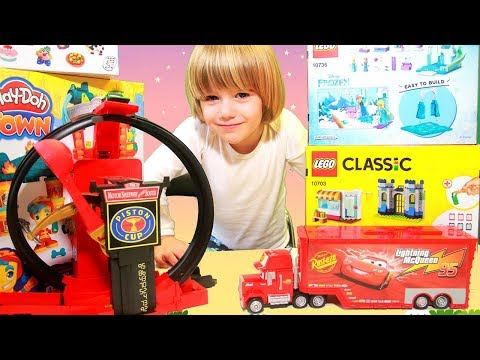 Disney CARS Lightning Mcqueen Crazy Trucks - 100+ Cars Toys Giant SURPRISE With Car Collection
