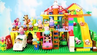 Peppa Pig Legos House Construction Sets - Lego Duplo House Creations Toys For Kids