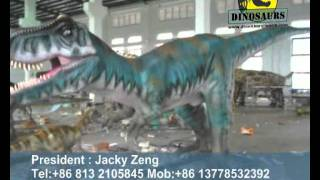 preview picture of video 'Animatronic dinosaurs testing in factory'