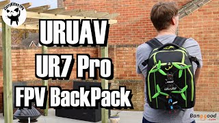 URUAV UR7 Pro FPV Backpack review. Supplied by Banggood