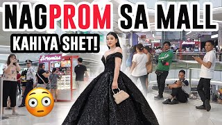 I Wore A PROM DRESS To The MALL!!!! KAKAHIYA! (+ GOWN GIVEAWAY) | Toni Sia