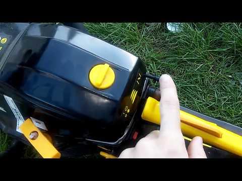 Обзор и тест бензопилы Huter BS-45 + как легко заводить пилу? (видео)