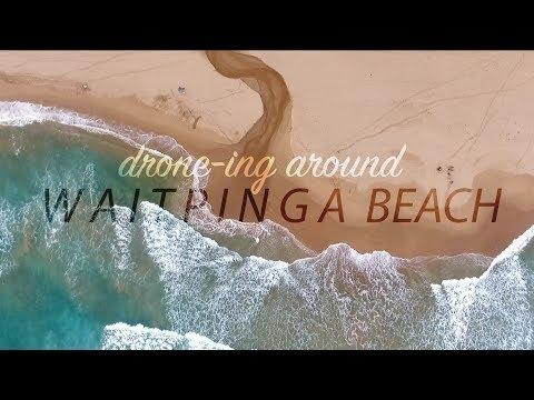 Waitpinga Beach drone footage of surf