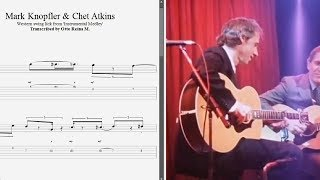 Mark Knopfler & Chet Atkins - Western swing lick (Medley) - Best lick (animated tab - Fast & slow)