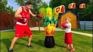 Senya and dad play MAGIC Sports Games